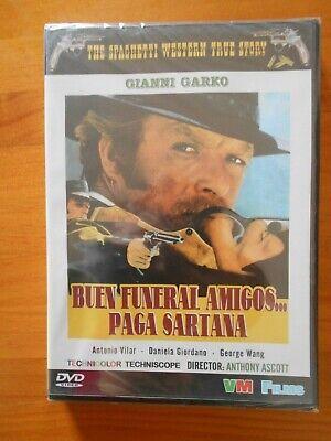 DVD BUEN FUNERAL AMIGOS... PAGA SARTANA - GIANNI GARKO - NUEVA, PRECINTADA...