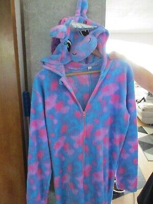 Einhorn Unicorn Kostüm Hausanzug Homewear GrL/XL Schlafanzug anzug kuschelanzug