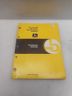 Genuine John Deere 310 320 Hot Water High Pressure Washers Technical Manual