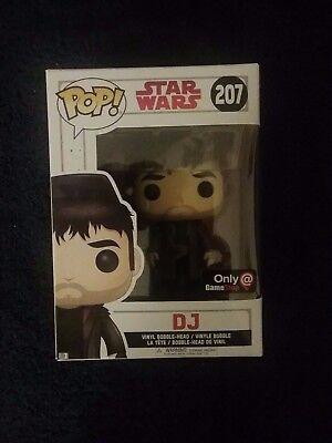 Funko Pop! STAR WARS The Last Jedi Gamestop Exclusive DJ #207, New