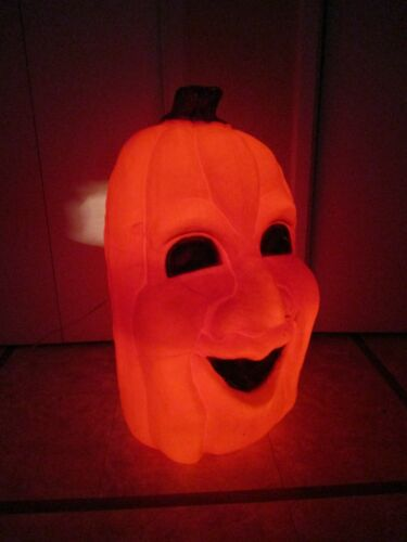 RARE Vintage Scary Jolly Face Pumpkin Lighted Halloween Blow Mold  EMPIRE ??