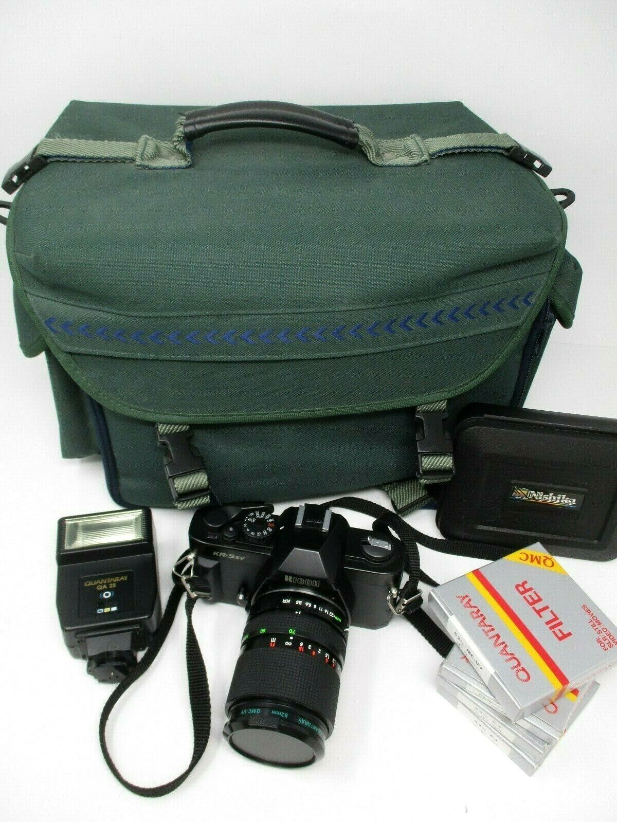 Ricoh KR-5sv 35mm SLR Camera Bundle With 35-70mm Lens Accessories Case