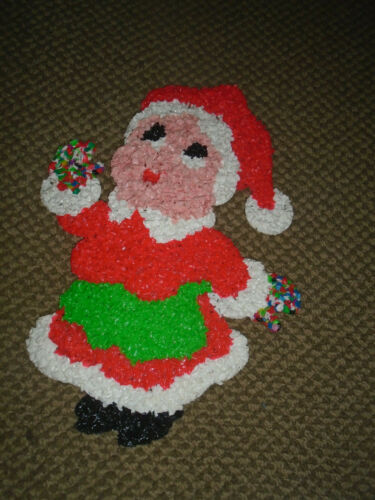 Melted Plastic Popcorn Christmas Mrs. Claus decoration