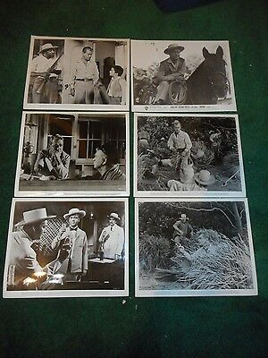 SANTIAGO - SET OF 14 ORIGINAL PUBLICITY STILLS - 1956 - ALAN LADD