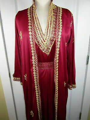 Authentic Vintage ARABIAN Elegant Dress Gown Robe Cover - Arabian Dress Up