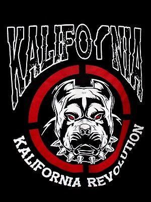 KALIFORNIA /CALIFORNIA..BULL DOG..BLACK.. T-SHIRT..NEW..sz XL TALL California Dog T-shirt