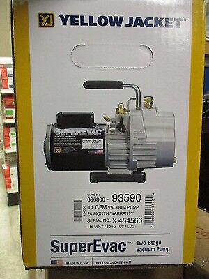 Yellow Jacket Superevac 11cfm Vacuum Pump 115v Vac -- 93590