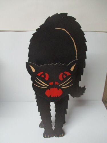 Old Luhrs Vintage Halloween Diecut - 20 Inch Tall Standing Black Cat