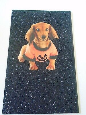 Happy Halloween Card with Envelope Dog Orange Sweater](Happy Halloween Dog Cards)