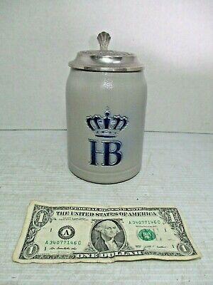 HB HOFBRAUHAUS MUNCHEN German Pottery Stoneware Beer Stein Mug 0.5 Liter