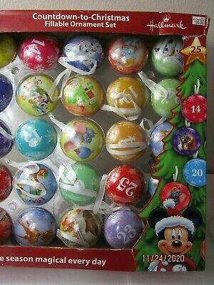 Hallmark Disney Count Down To Christmas Ornament Set Advent Calendar
