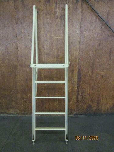 """STEEL 5 STEP MACHINERY STAIRWAY LADDER 19-1/2"""" STEP WIDTH"""