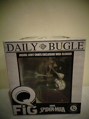 2017 DAILY BUGLE Q FIG EXCLUSIVE MARVEL SPIDER-MAN WEB SLINGER LOOT CRATE NIB