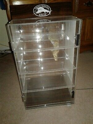Tommy Bahama Acrylic Counter Locking Display Case Spinner 4 Level Display