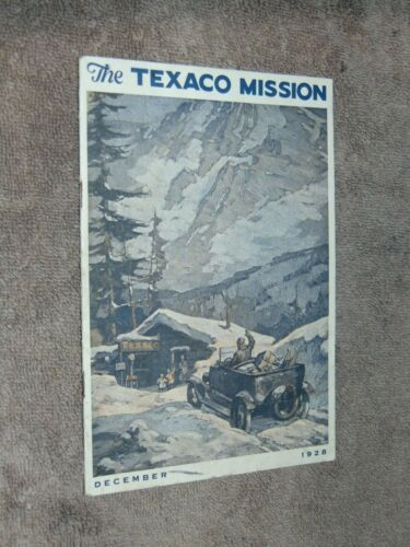 ORIGINAL DEC. 1928 TEXACO GASOLINE DEALER