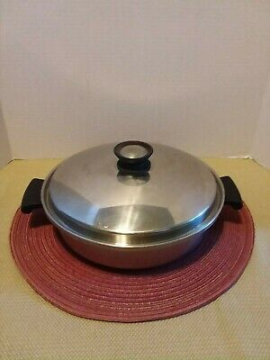 CAMELOT / REGAL WARE 3PLY STAINLESS STEEL SKILLET FRY PAN WATERLESS COOKWARE USA