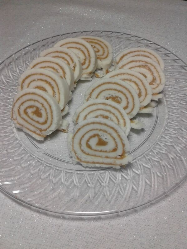 Homemade old fashion peanut butter roll/ potato candy