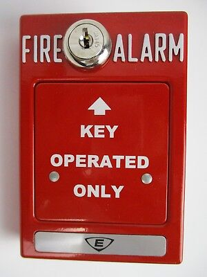New Edwards Rms-1t-ko - Key Operated Station Red Fire Alarm
