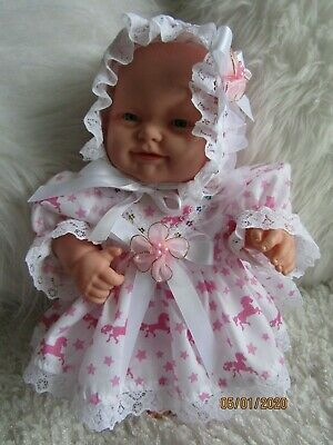 Handmade Clothes Dress Pink Unicorn -14inch Berenguer Lots to love/Chubby Doll