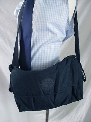 Kipling authentic navy blue cross body daddy baby diaper messenger bag