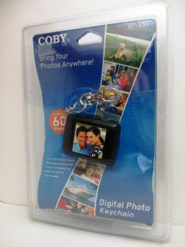 New Coby Digital Photo Keychain Holds 60 Photos BLUE! DP-151