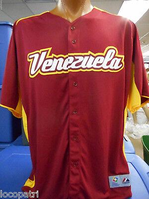 Venezuela World Baseball Classic Majestic Authentic Mens Cool Base Jersey NWT 50