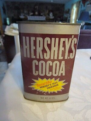 Vintage Hershey's Cocoa Vintage 8 oz Tin - LUDLOT