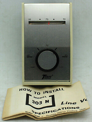 Vintage Trane Line Voltage Thermostat 303n Device 80780 Hp-120vac Hp-240vac