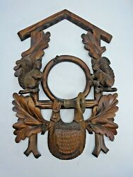 Wooden Frame for Front of Hunter Style Cuckoo Clock  10 1/2 Wide by16 Long