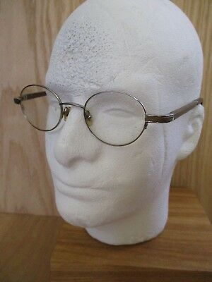 GOLD WOOD PARIS silver brown retro throwback round eyeglasses frames