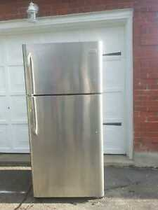 Frigidaire stainless steel refrigerator, free delivery