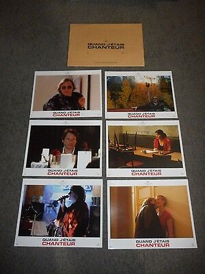 WHEN I WAS A SINGER - 10 ORIGINAL FRENCH LOBBY CARDS - 2006 - CECILE DE FRANCE
