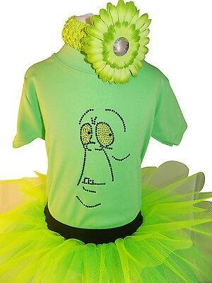 Slimer Halloween Costume Baby (Ghostbusters Slimer Halloween 80's Fancy Dress Tutu Set Vest Headband Baby)