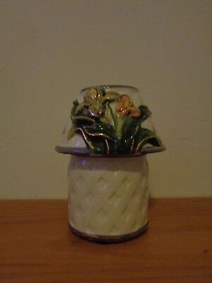 Kimberly Designs 2001 Flower Tea Light/Votive Candle Jar Shade Topper & Holder