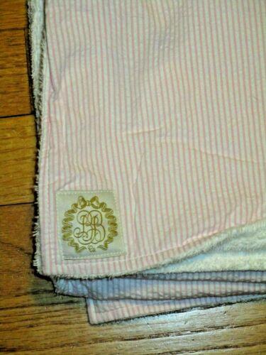 BB/Beaufort Bonnet Bishop Co. Bath & Beach Towel Pink Seersucker/White Terry