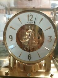 Vintage Jaeger Le Coultre Atmos Round Face Perpetual Movement Mantle Clock