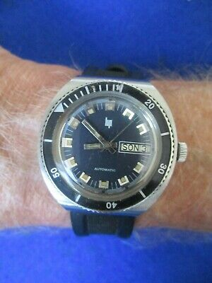 Vintage LIP divers automatic all stainless steel gents watch.