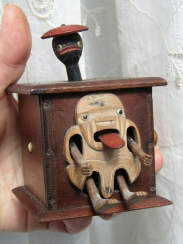 Antique Japanese Meiji period  or Victoria period Kobe Wooden Toy Automata