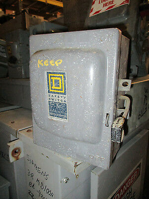 Square D D321n 30 Amp 240 Volt Fusible Vintage Disconnect A Series