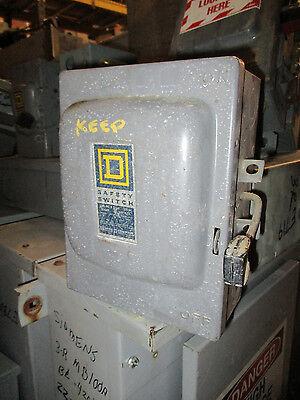 Square D D321n 30 Amp 240 Volt Fusible Vintage Disconnect A Series