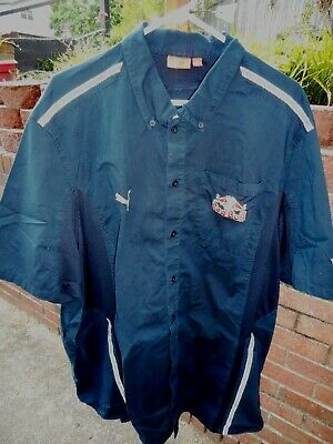 Brian Vickers RED BULL RACING race worn pit PUMA brand pit crew shirt - 4XL