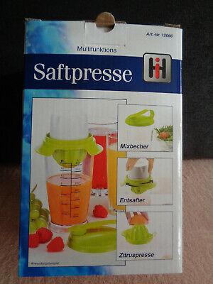 Multifunktions-Saftpresse (Entsafter, Zitruspresse, Mixbecher)