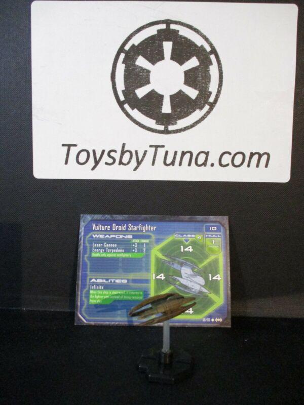 Star Wars Miniatures Starship Battles Vulture Droid Starfighter w/ Card mini RPG
