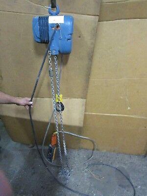 Mannesmann Demag Pk5n 2200lbs 1ton Electric Chain Hoist 230460v 3ph 14 Ft Drop
