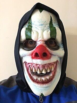 Erwachsene Kinder Halloween Gruslige Clown Maske Weichschaum Schickes Kostüm ()