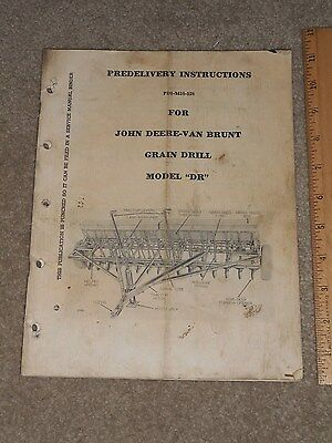 Vintage 1950s John Deere Van Brunt Dr Grain Drill Predelivery Instructions