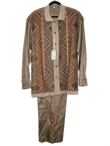 Silversilk 2Pc Walking Leisure Suit Knits Style 2965 Shirt XL Pants 38