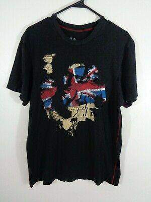sid vicious shirt sex pistols british flag u.k. large punk rock rare