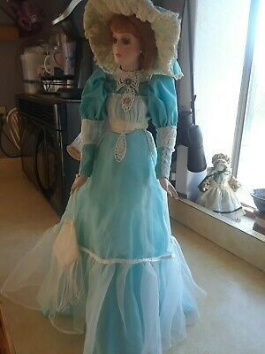Victorian Dynasty Doll with Blue Dress