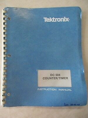 Tektronix Dc 504 Counter Timer Instruction Service Manual 070-1670-01